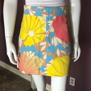 Tracy Feith for Target Floral Canvas Mini Skirt
